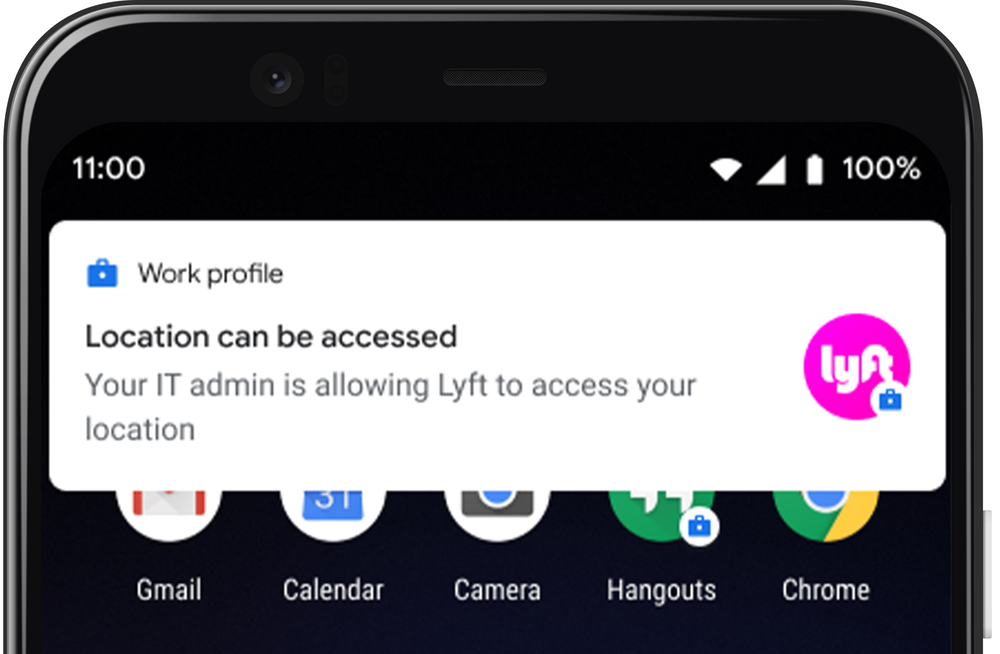 Location access notification