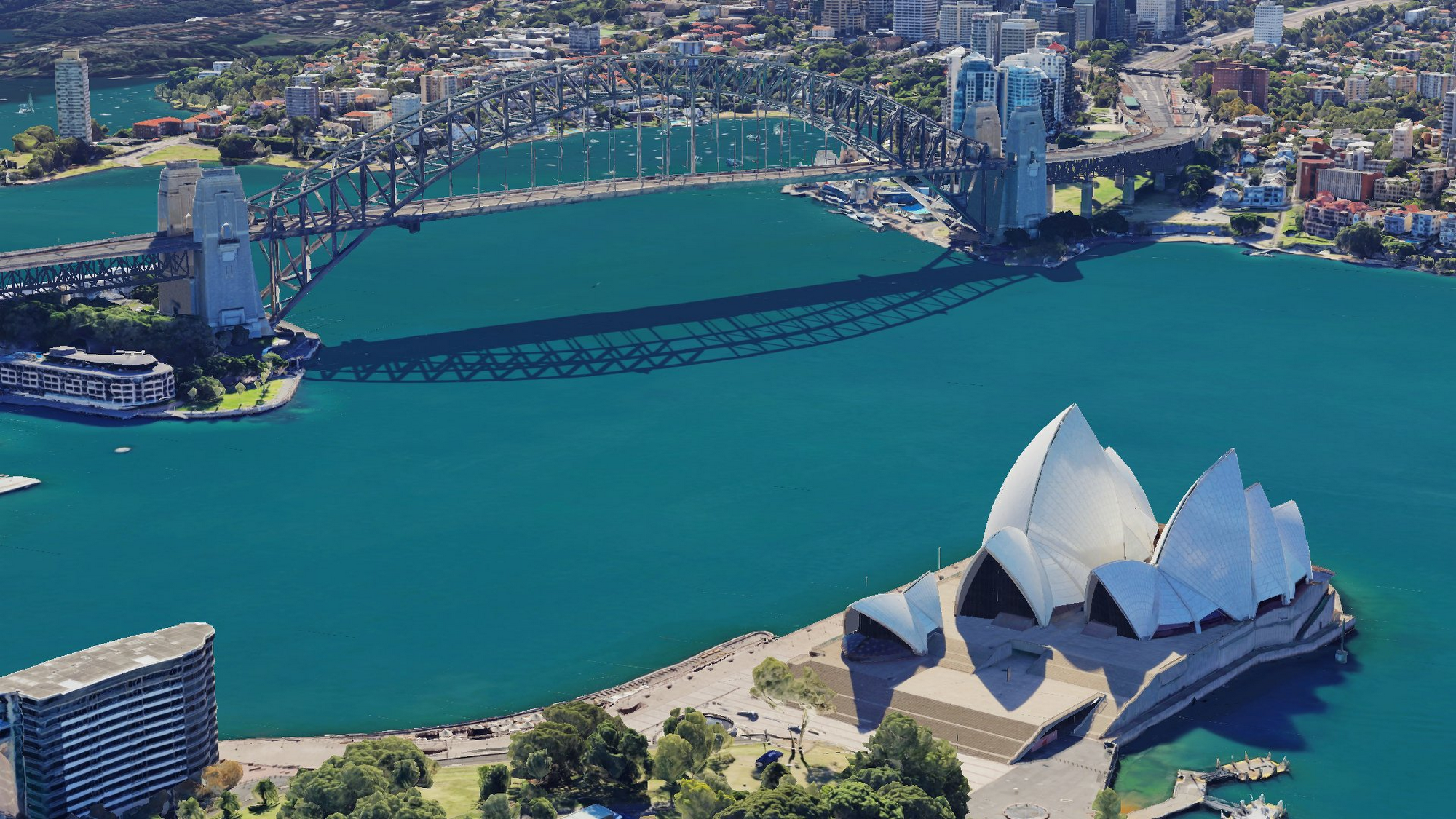 Down under, over and all around: Sydney in 3D on Google Earth