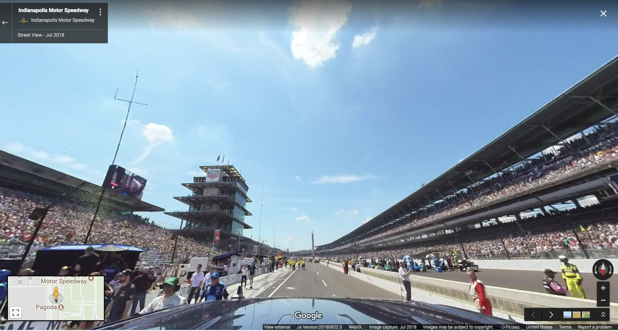 Take a spin around the Indianapolis Motor Speedway in Google Maps