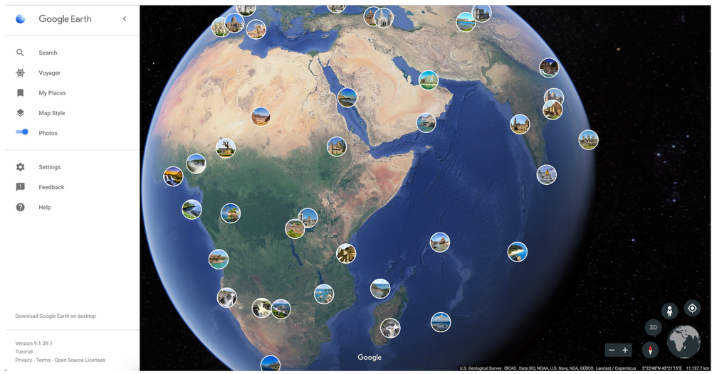 View the world through someone else's lens in Google Earth