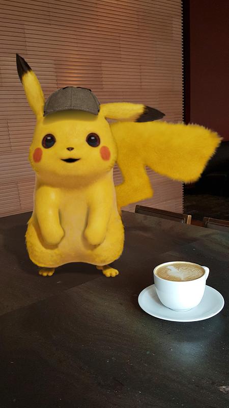 Partner up with Detective Pikachu Playmoji in Playground