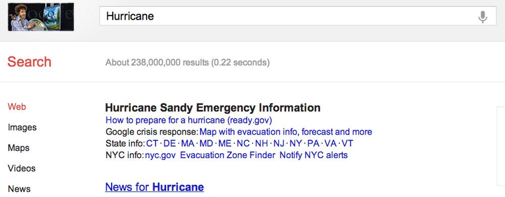 Public Alerts Sandy