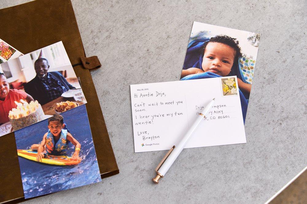 Google photos postcard
