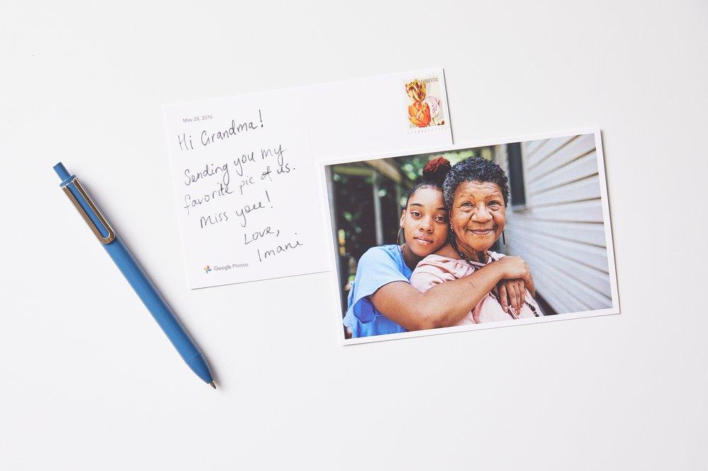 Image of postcard from Google Photos premium print series.