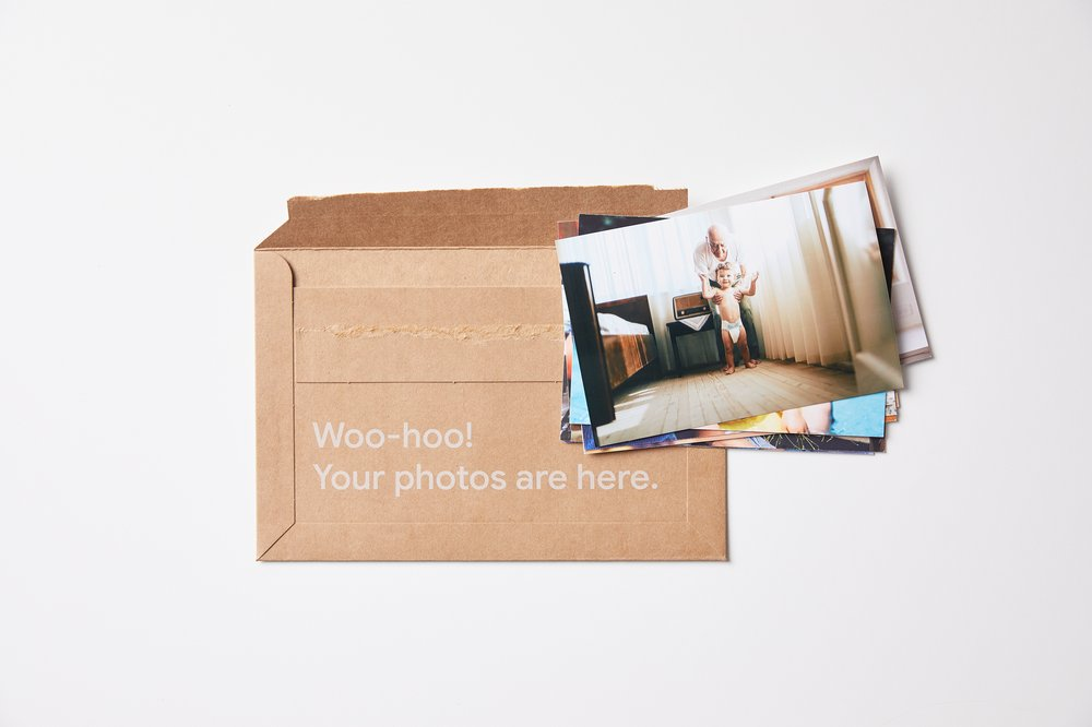Google Photos arrive in a box
