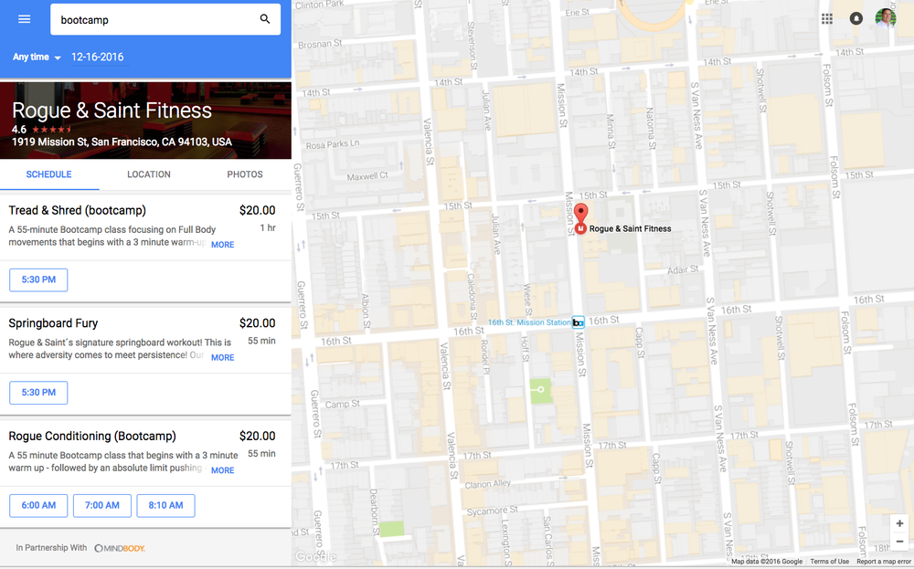 Reserve with Google Google Maps on desktop