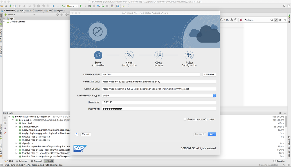SAP Android studio