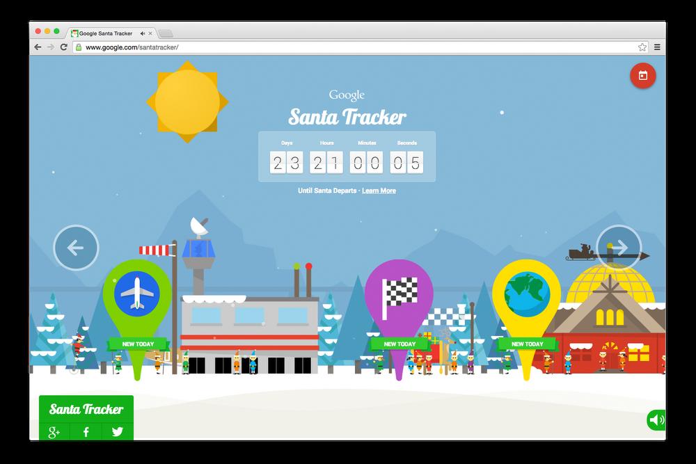 Santa Tracker village