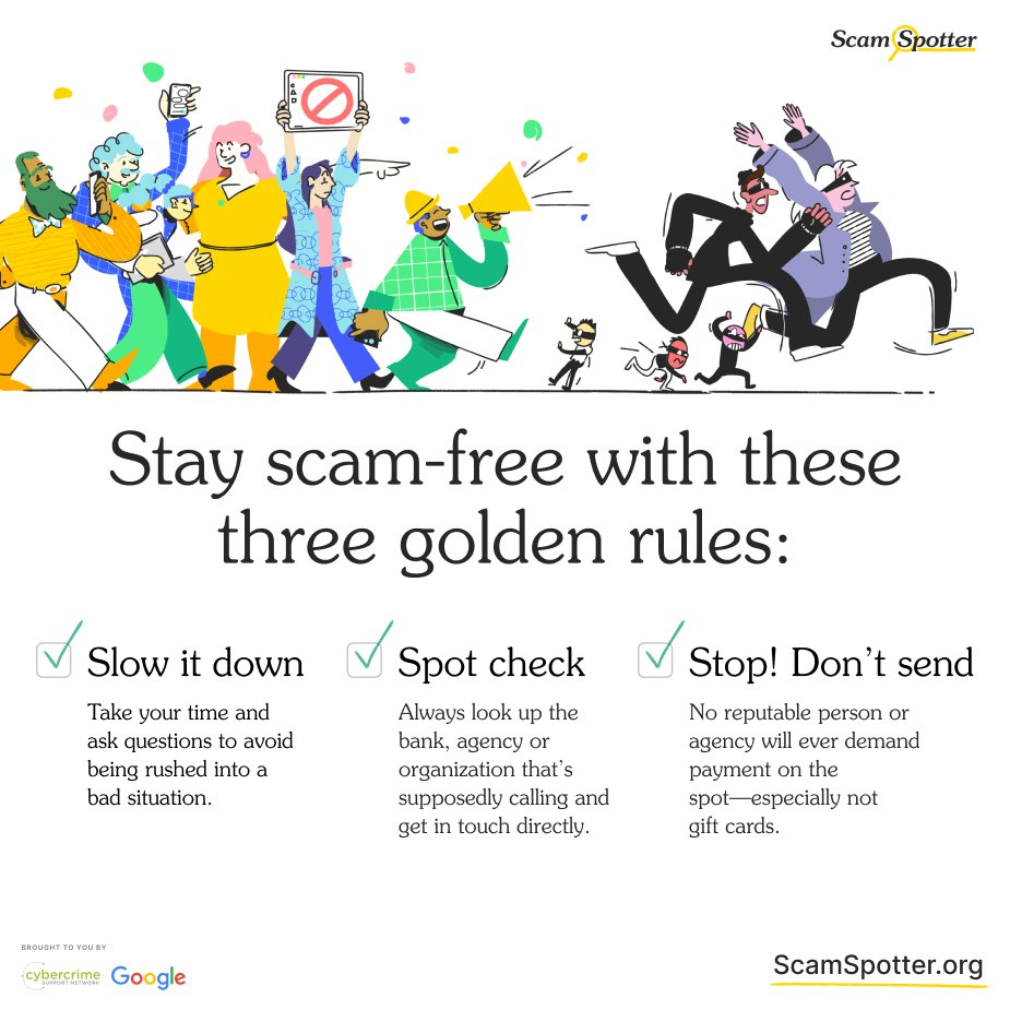 Spot the scam, stop the scammers