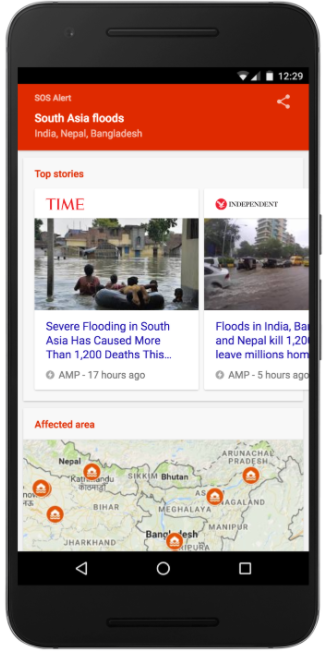 SOS Alerts - South Asia Flooding