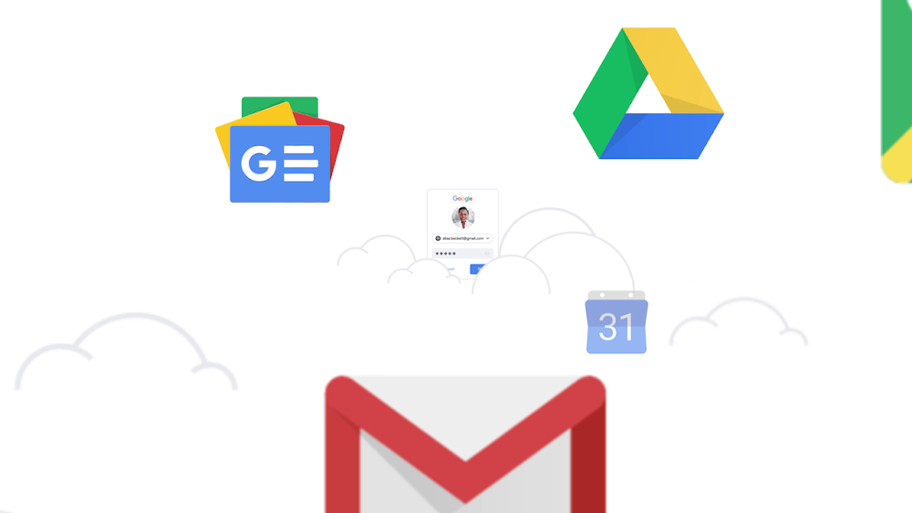 A built-in password manager in your Google Account