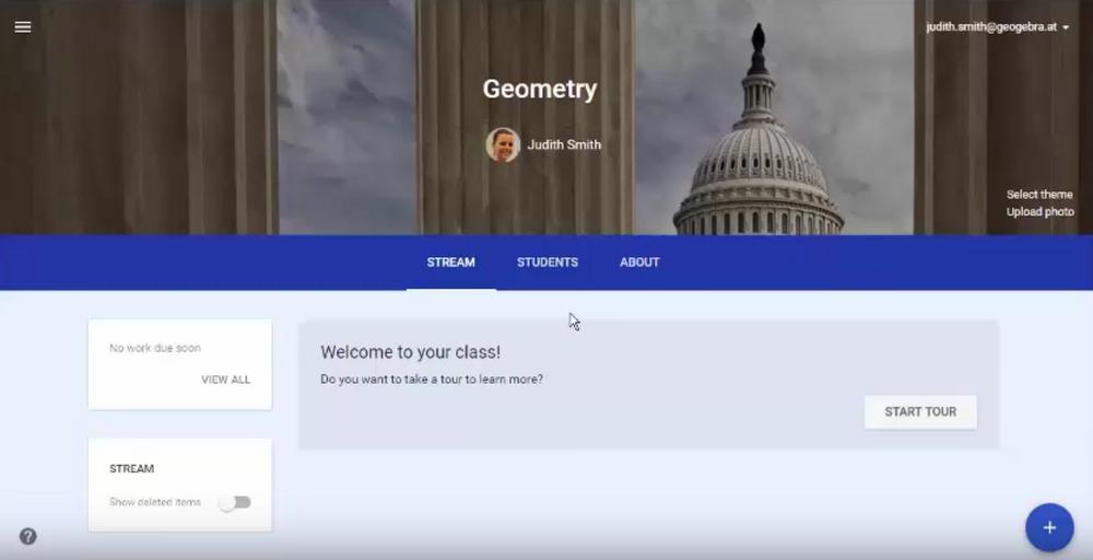 Using GeoGebra with Google Classroom