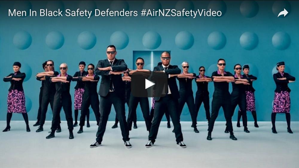 Men In Black Safety Defenders #AirNZSafetyVideo