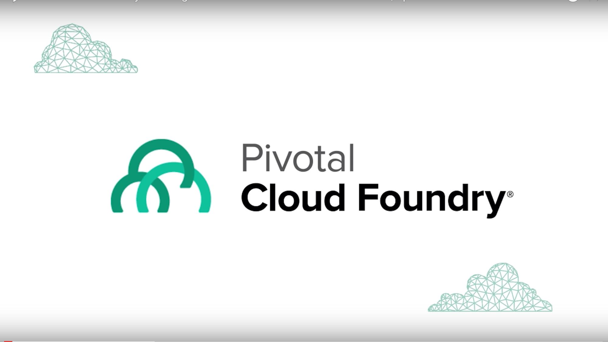 Pivotal Cloud Foundry