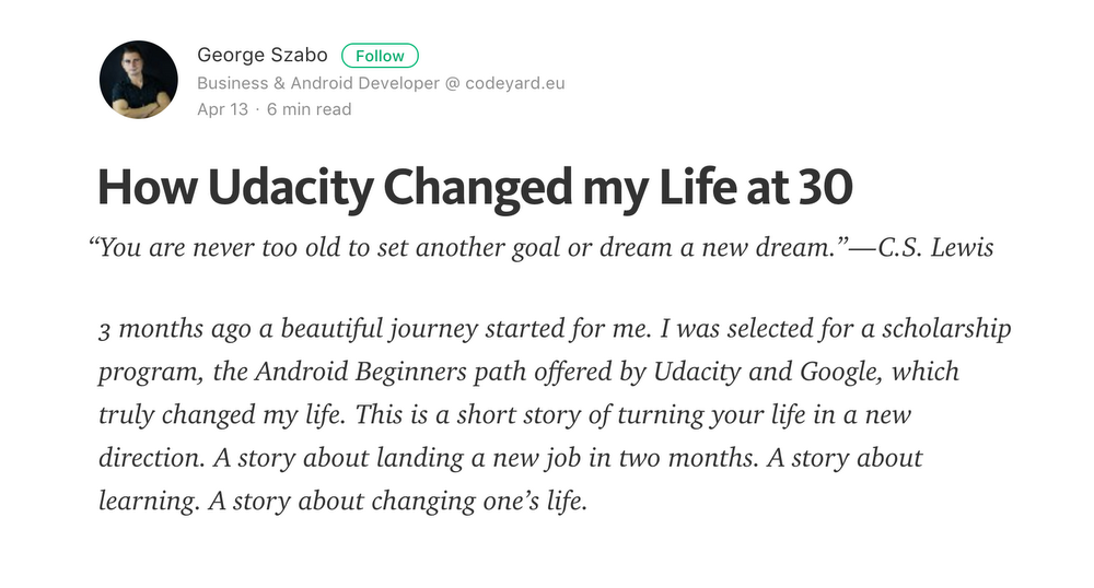 Exploring with Udacity: how four lucky Android scholars experienced