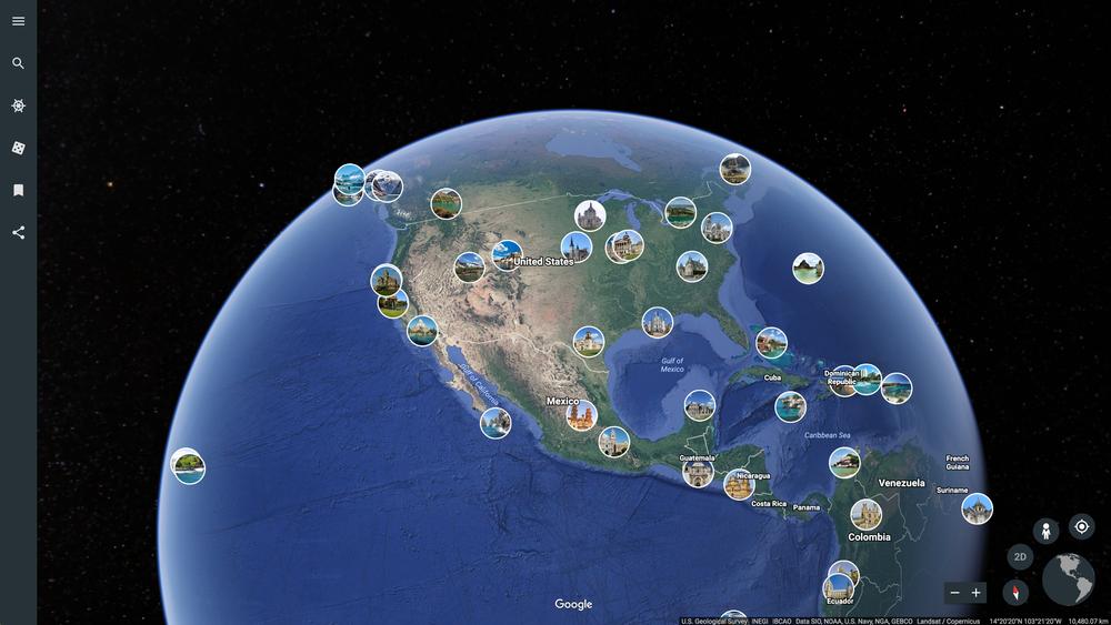 新しいGoogle Earthで写真が表示されるようになりました