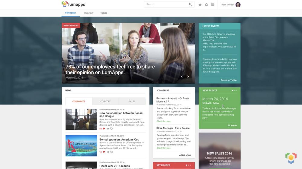 LumApps - Enterprise Portal for Google's G Suite