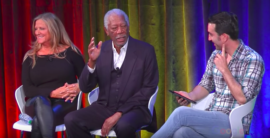 "Executive Producers Morgan Freeman and Lori McCreary discuss CBS's ""Madam Secretary."""