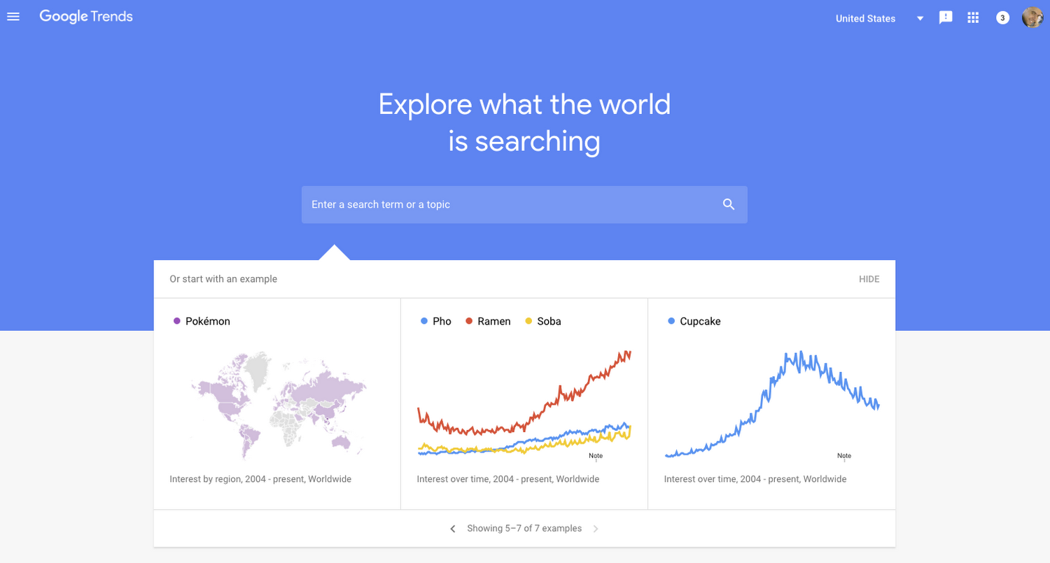 Use Google Trends to avoid Beginner's Dropshipping Mistakes