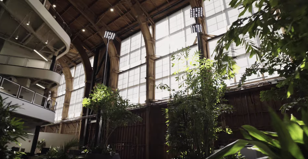 This video shows the inside of one of Google's offices, Spruce Goose.