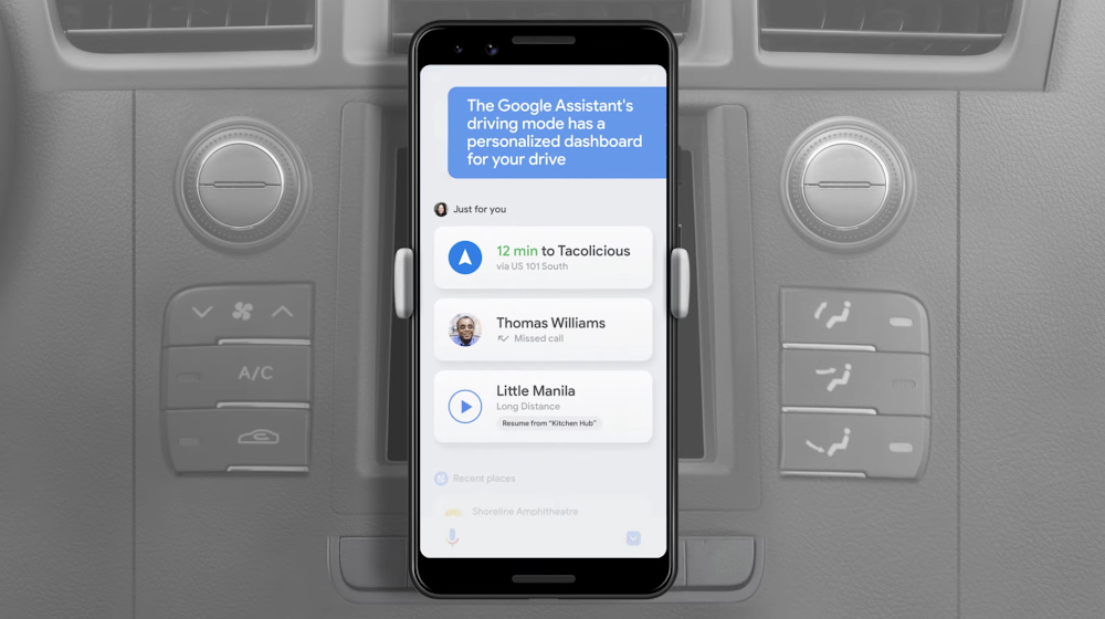 Preview of the next evolution of our mobile driving experience with the Assistant's new driving mode