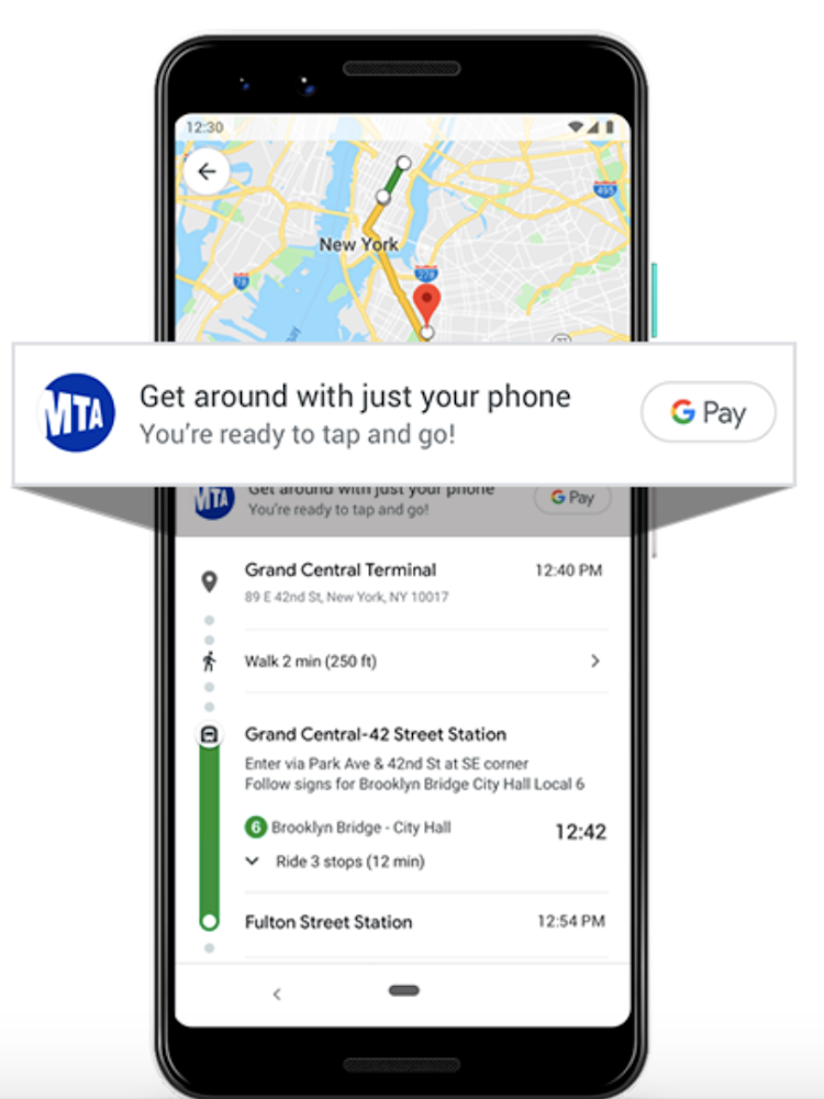Google Maps and Google Pay integration