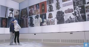 Looking at artwork