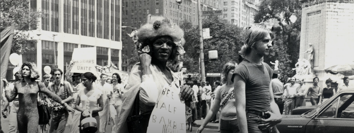 Marsha P. Johnson and Sylvia Rivera at the Pride March, 1973