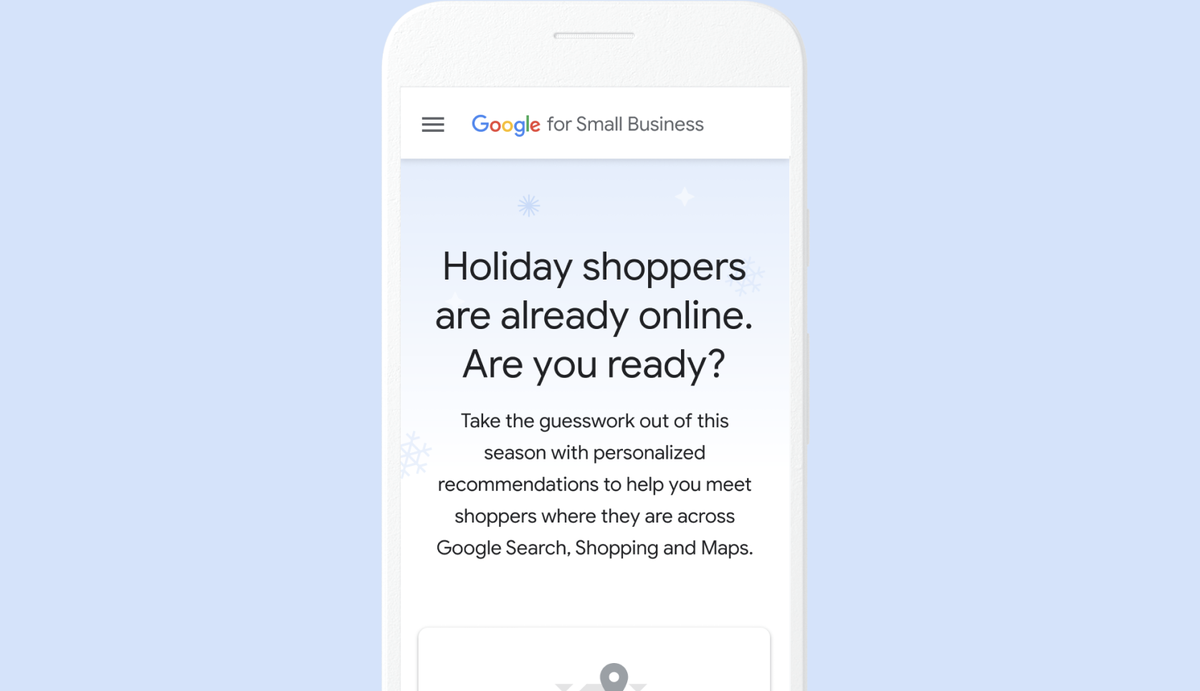 Google for Small Business Holiday Hub - 4