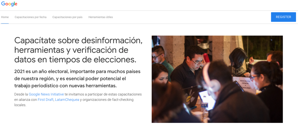 The Spanish website for disinformation trainings for journalists