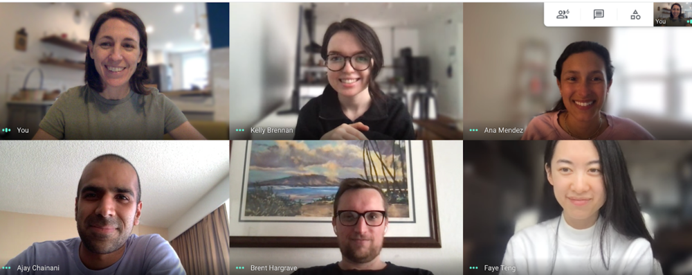 Team members from the Lensfest Local team gather virtually to meet