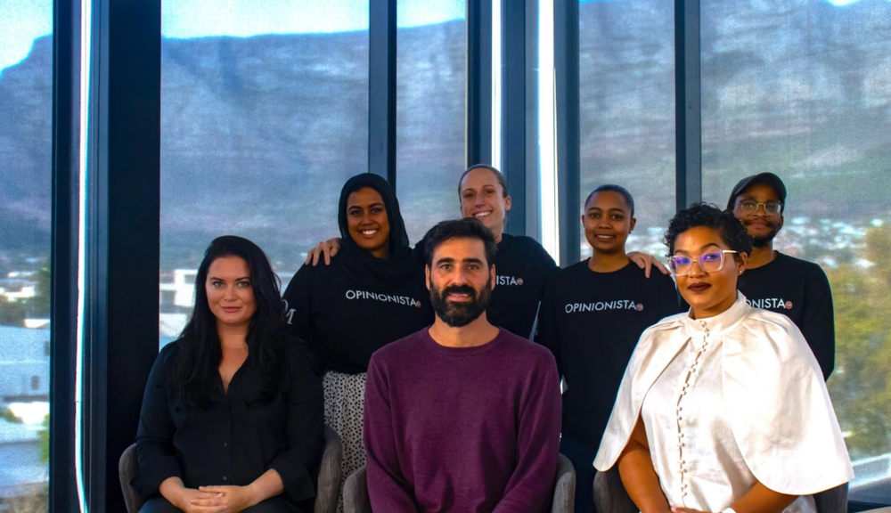 Daily Maverick's membership team posing for a team picture