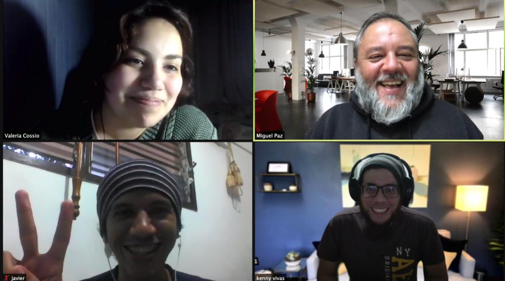 The Reveniu Team meets virtually