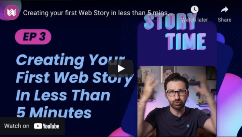 screenshot of thumbnail episode of Storytime series on YouTube