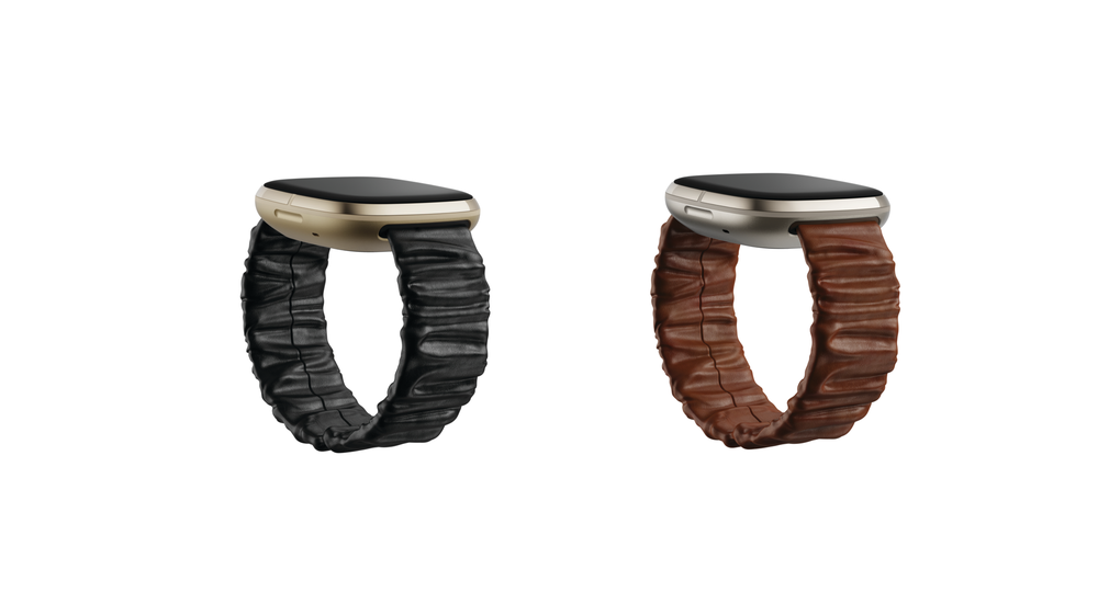The new Fitbit + Brother Vellies bands in black and oak.
