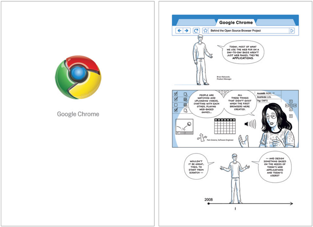 chrome launch comic