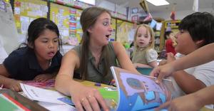 Morgan's kindergarten classroom