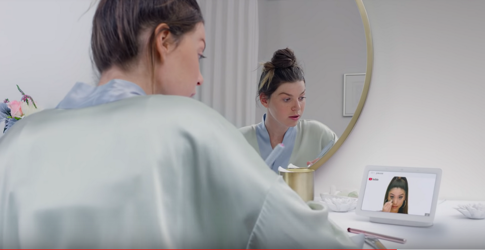Here's how you can use Google Home Hub to play videos by Sephora.