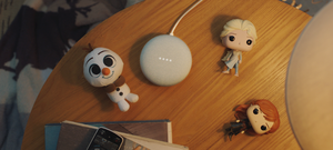 Frozen 2 characters and Nest Mini