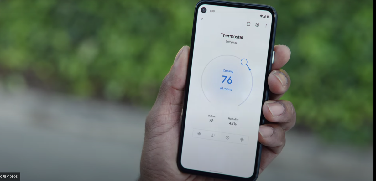 Nest Thermostat and Google Home app