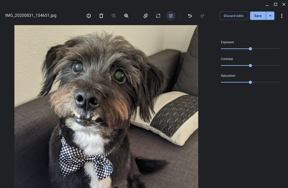 We improved the built-in gallery app on Chromebooks for simple photo editing.
