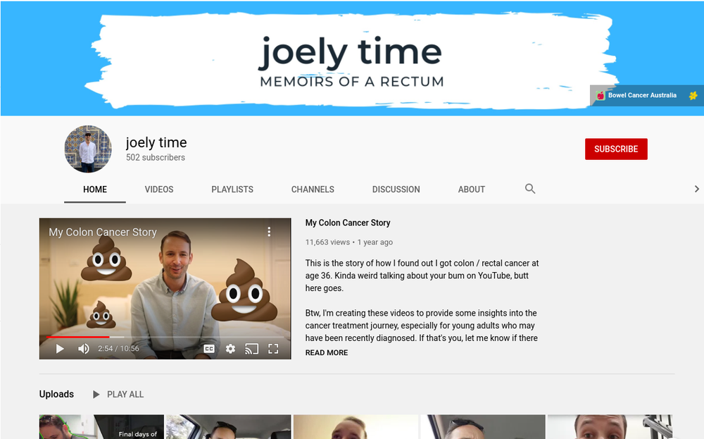 Joel's YouTube channel