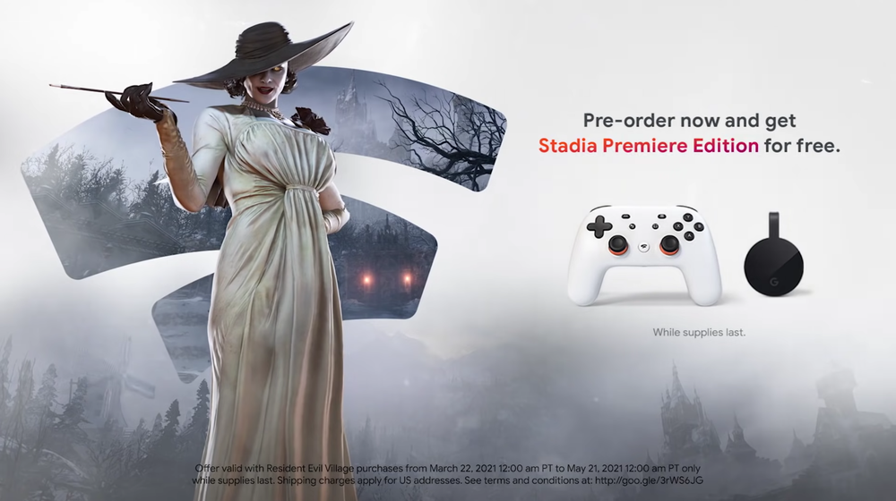 Pre-order Resident Evil Village Now + Free Stadia Premiere Edition