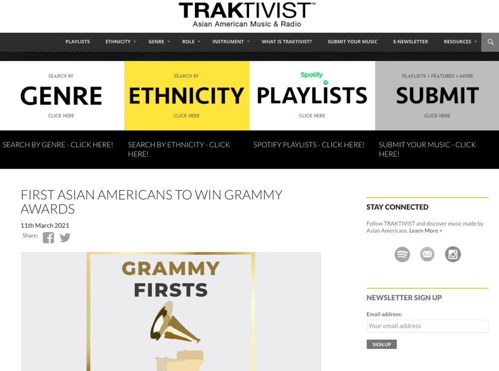 Image shows a screenshot of the Traktivist website.