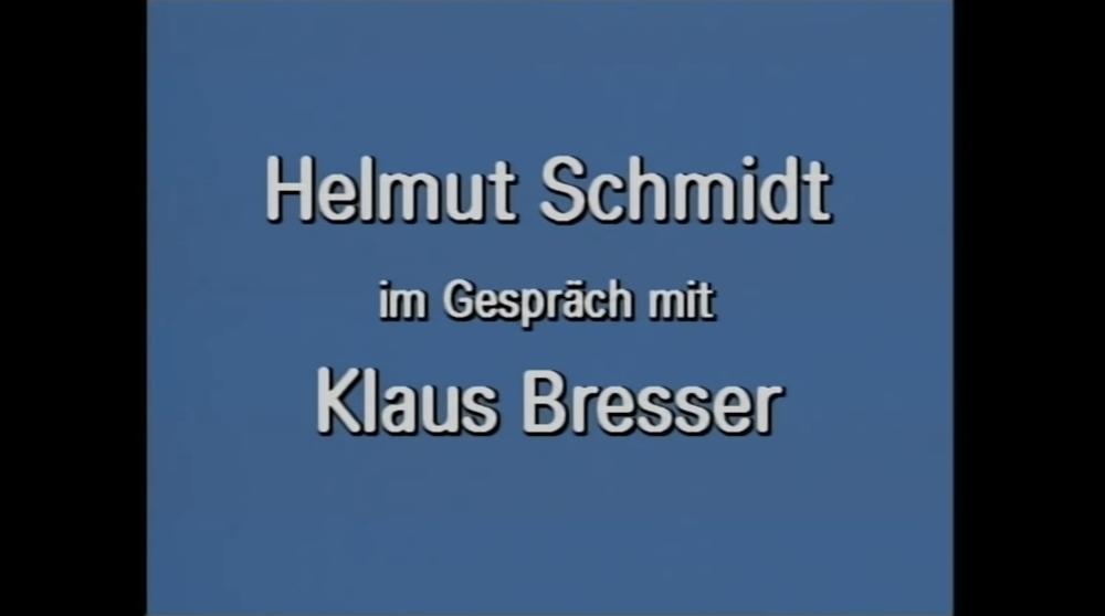 Video zu Helmut Schmidt als Zeitzeuge