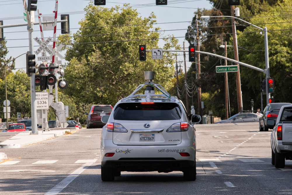 Self-driving car street