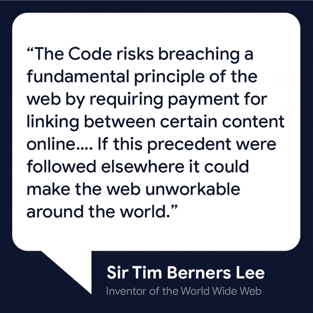 An image of a quote from Sir Tim Berners Lee
