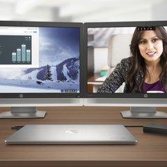 HP Chromebook 13 powering two monitors