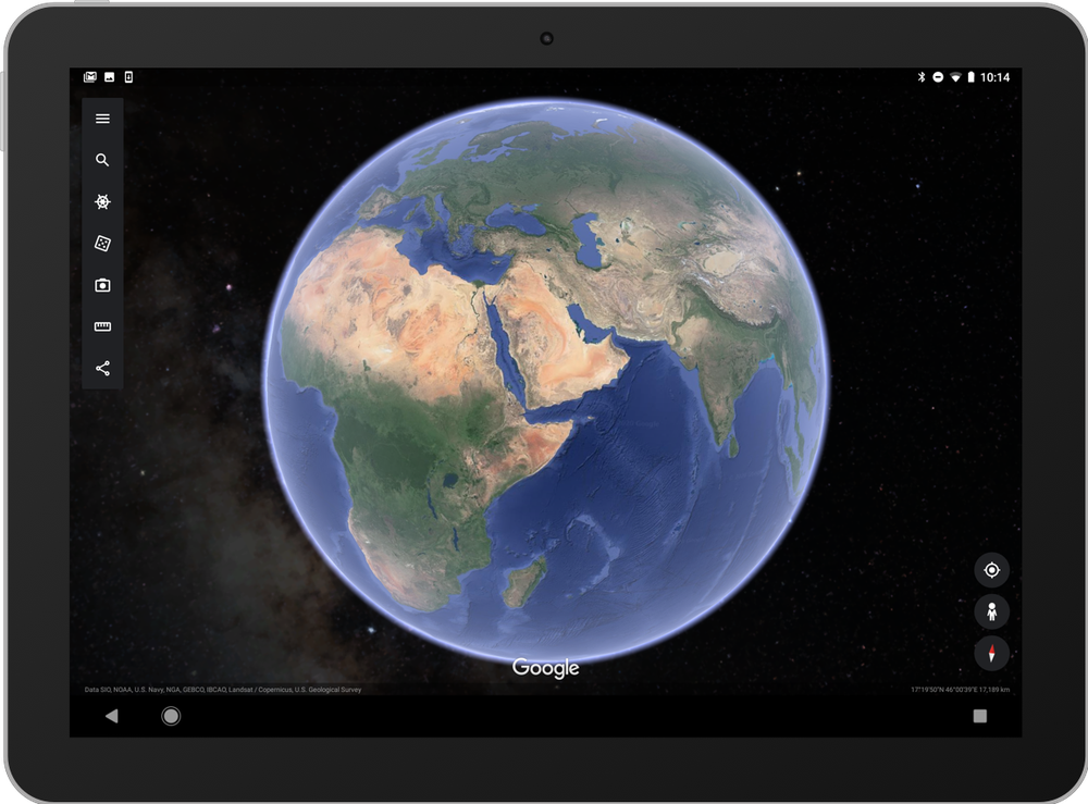 Stelle in Google Earth su un tablet device.png