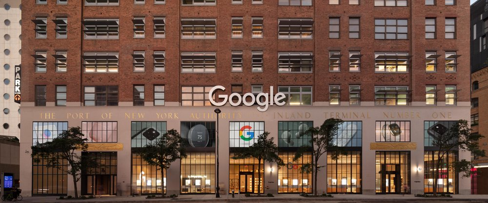 A photograph of the outside of the Google Store in New York City.